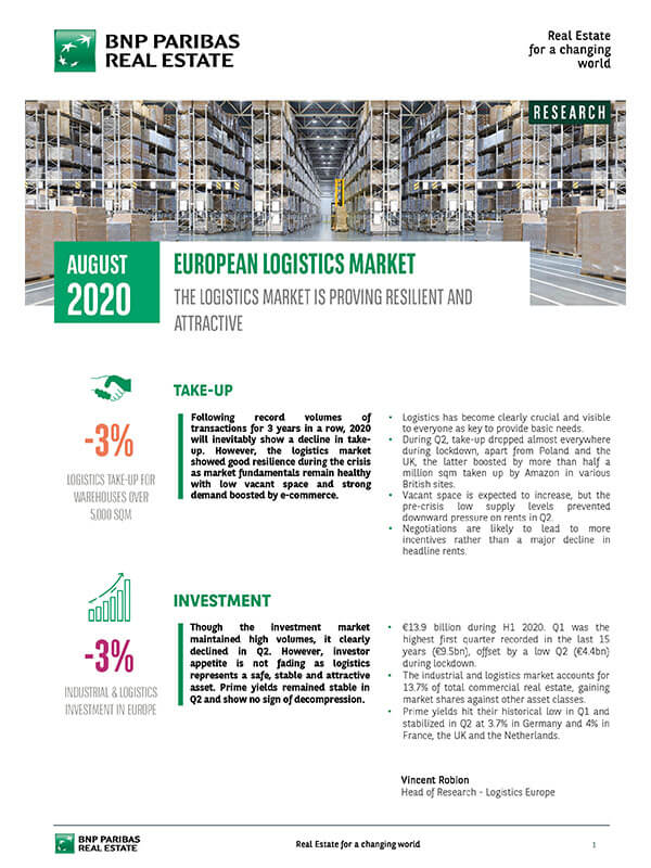 Avrupa Lojistik Depo Pazarı