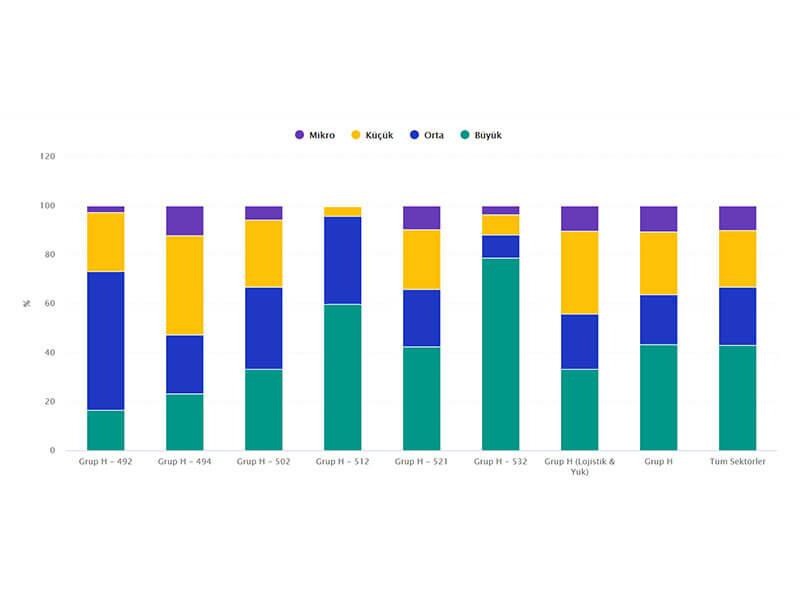 Büyüklüğüne Göre Firmalarda Çalışan Sayısı